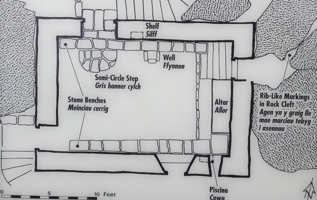 Map of the Chapel at St Govan's