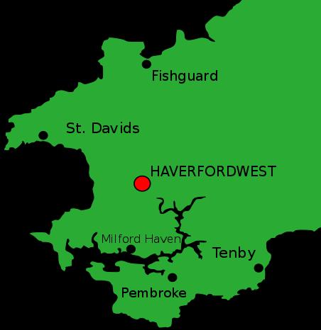 Haverfordwest, Pembrokeshire.