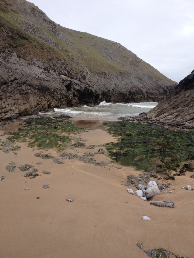 The cove at St Govans where the alledged incident took place
