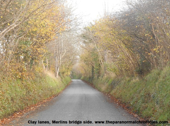 The entrance to Clay Lanes from Merlin's Bridge, Haverfordwest. Could this be Pembrokeshire's most haunted road?