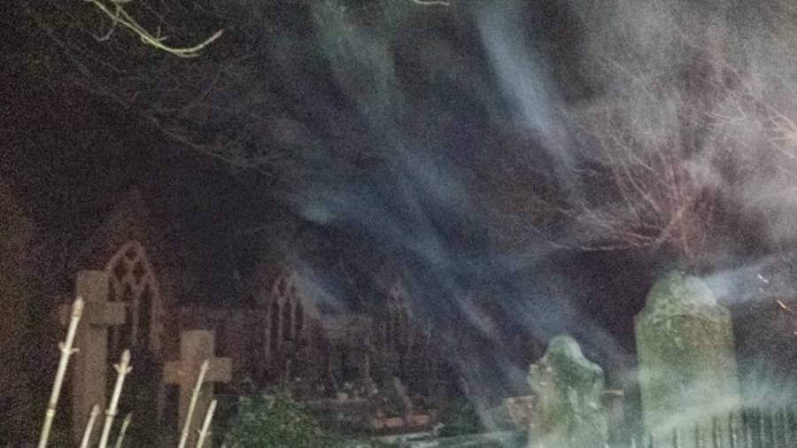 Is this is a paranormal occurrence or does it have a plausible explanation? Picture taken and used by with permission from Kathryn Ashworth.