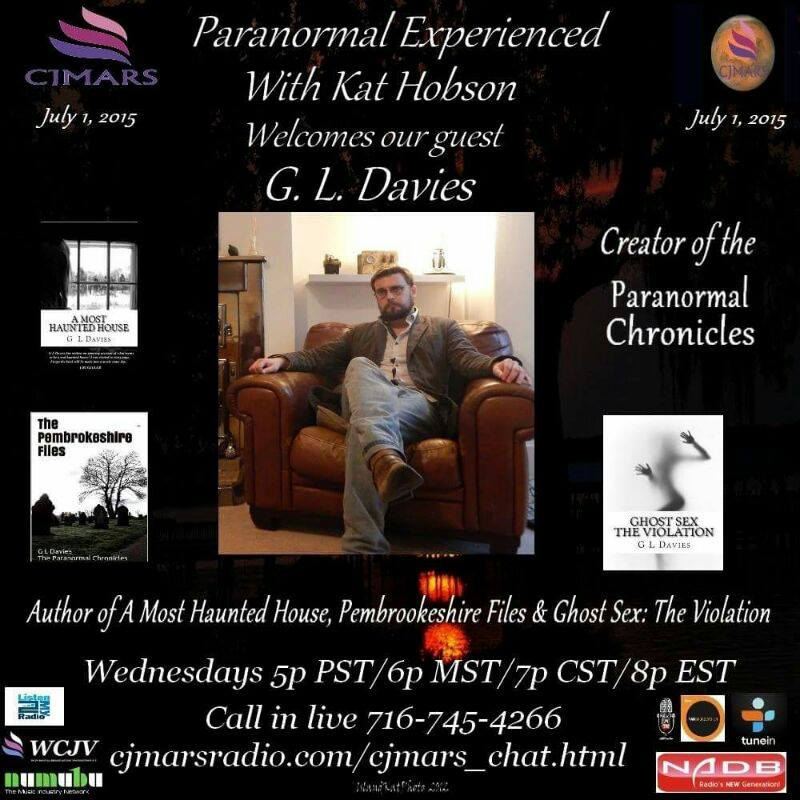 Click now to hear G L Davies discuss the paranormal sex phenomena and more with Kat Hobson