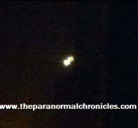 The Pembroke UFO. Photographed and published with permission from Jo Chambers