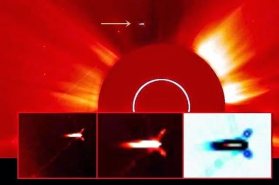 Have giant spaceships been spotted near our sun?
