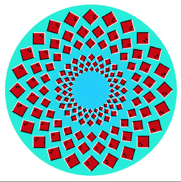 **MANDATORY BYLINE** PIC BY AKIYOSHI KITAOKA / CATERS NEWS (PICTURED: ROTATING RAYS - OUTER RING OF RAYS APPEARS TO ROTATE CLOCKWISE, INNER RING APPEARS TO ROTATE ANTICLOCKWISE) These are the mind-blowing artworks of one professor who has dedicated his professional life to studying and generating a series of dizzying optical illusions. Professor Akiyoshi Kitaoka, from Ritsumseikan University, in Kyoto, Japan, has spent more than a decade creating his collecting of stomach-churning works. His designs have been used by the likes of Lady Gaga, who ran the Kitaokas work, entitled Gangaze, as the CD cover for her album Art Pop, in 2013.- SEE CATERS COPY