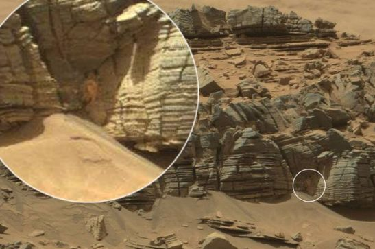 Clues to an ancient civilization? A crab on Mars?