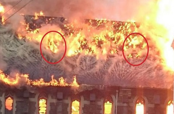 Faces in the flames. Paranormal activity or simple trick of the mind?