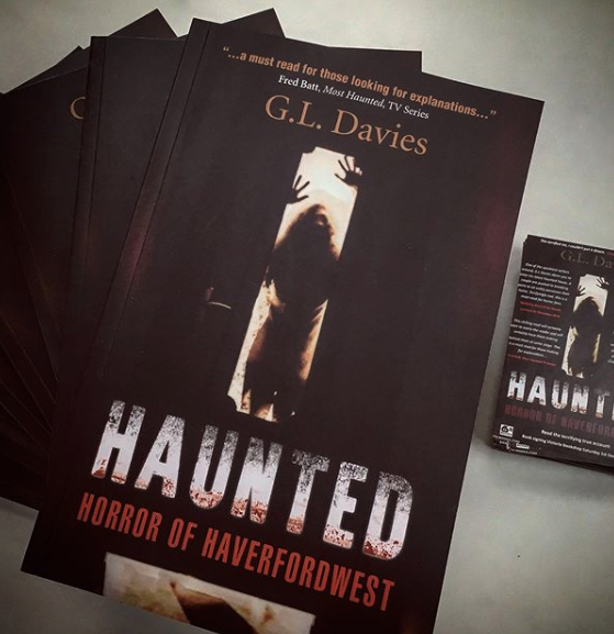 Haunted Horror of haverfordwest by G L davies signed copies available at Victoria bookshop Haverfordwest