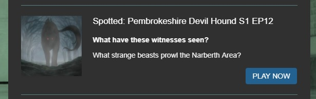 Pembrokeshire ghost stories Narberth on the paranormal chronicles podcast